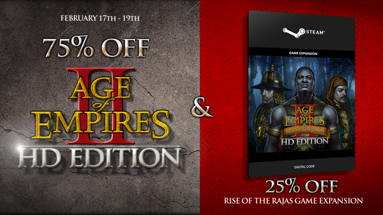 'Age of Empires II HD & Rise of Rajas on Sale Feb 17-19th' thumbnail
