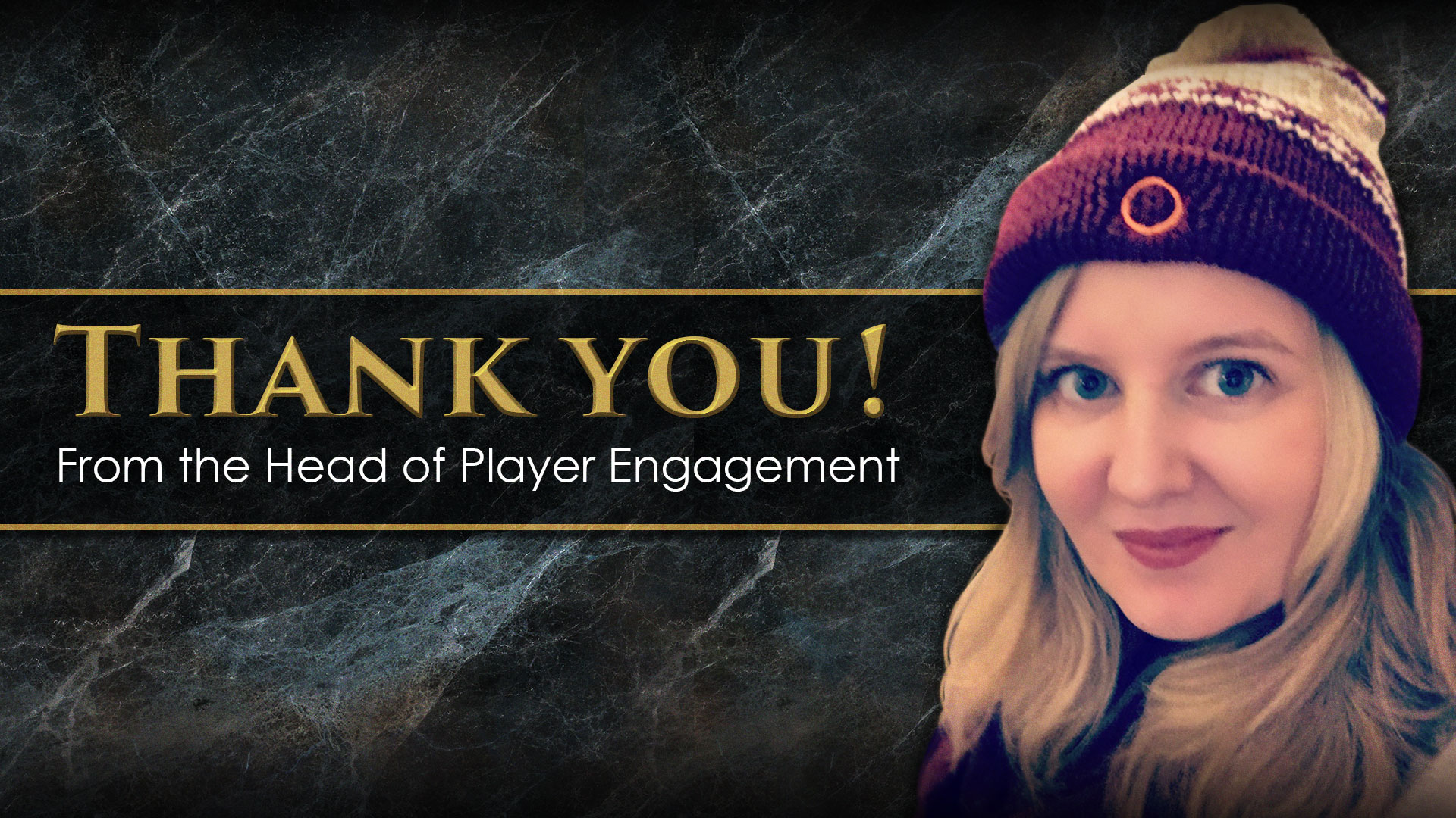 'Thank You From The Head of Player Engagement' thumbnail