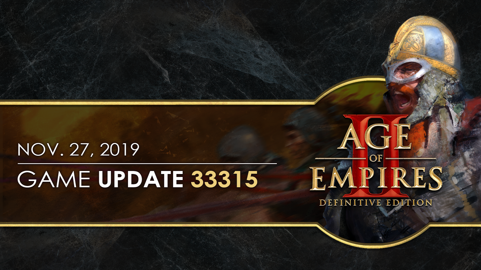 'Age of Empires II: Definitive Edition — Update 33315' thumbnail