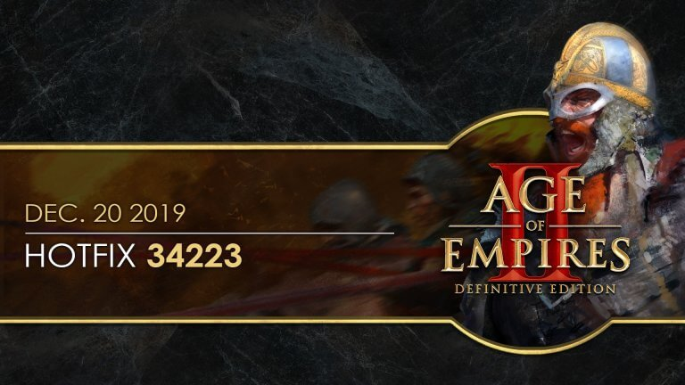 'Age of Empires II: Definitive Edition — Hotfix 34223' thumbnail