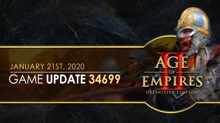 'Age of Empires II: Definitive Edition — Update 34699' thumbnail