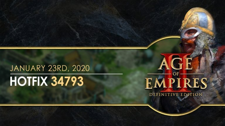 'Age of Empires II: Definitive Edition — Hotfix 34793' thumbnail