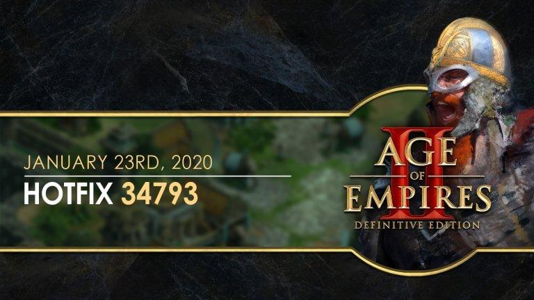 'Age of Empires II: Definitive Edition — Hotfix 34793' thumbnail