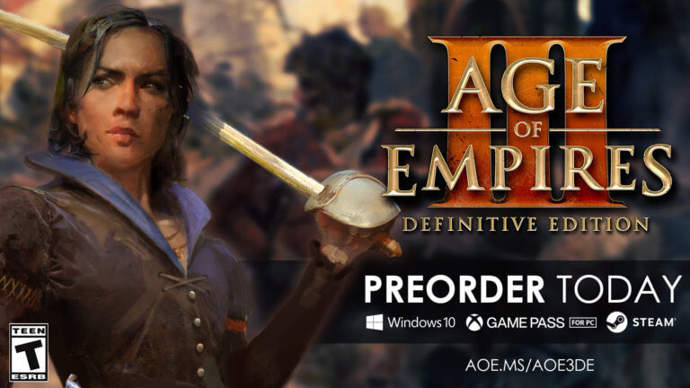 'Pre-Order Age of Empires III: Definitive Edition NOW; Play it on October 15!' thumbnail