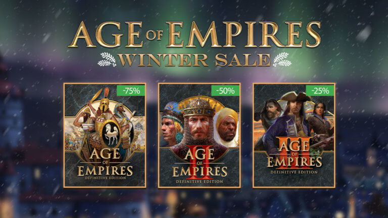 'Stay Cozy with the Age of Empires Winter Sale!' thumbnail