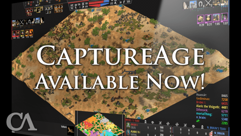 'CaptureAge—Age of Empires' most advanced spectator tool—is now Available!' thumbnail