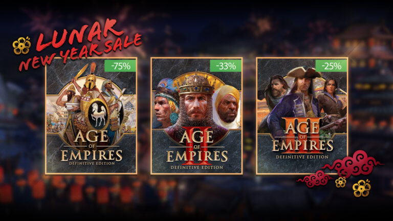 'Update your Age of Empires Collection during the Lunar New Year Sale' thumbnail