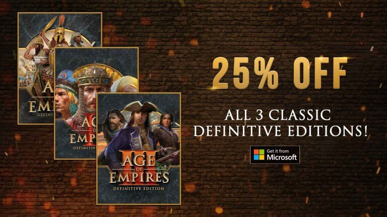'Get 25% Off Age of Empires During the Deals Unlocked Sale' thumbnail